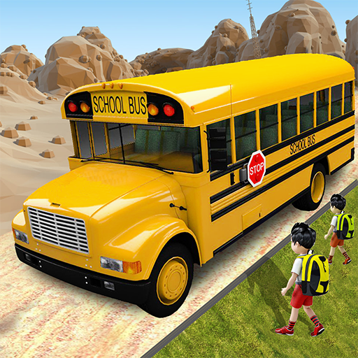 Offroad School Bus Driving: Flying 1.36