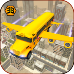 Flying School Bus Sim 2017  APK Mod  1.0.5