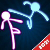 Stickman Fighting: 2 Player Funny Physics Games  APK Mod