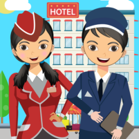Pretend Play Hotel Cleaning: Doll House Fun  APK Mod