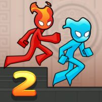 Fire and Water Stickman 2 : The Temple  APK Mod